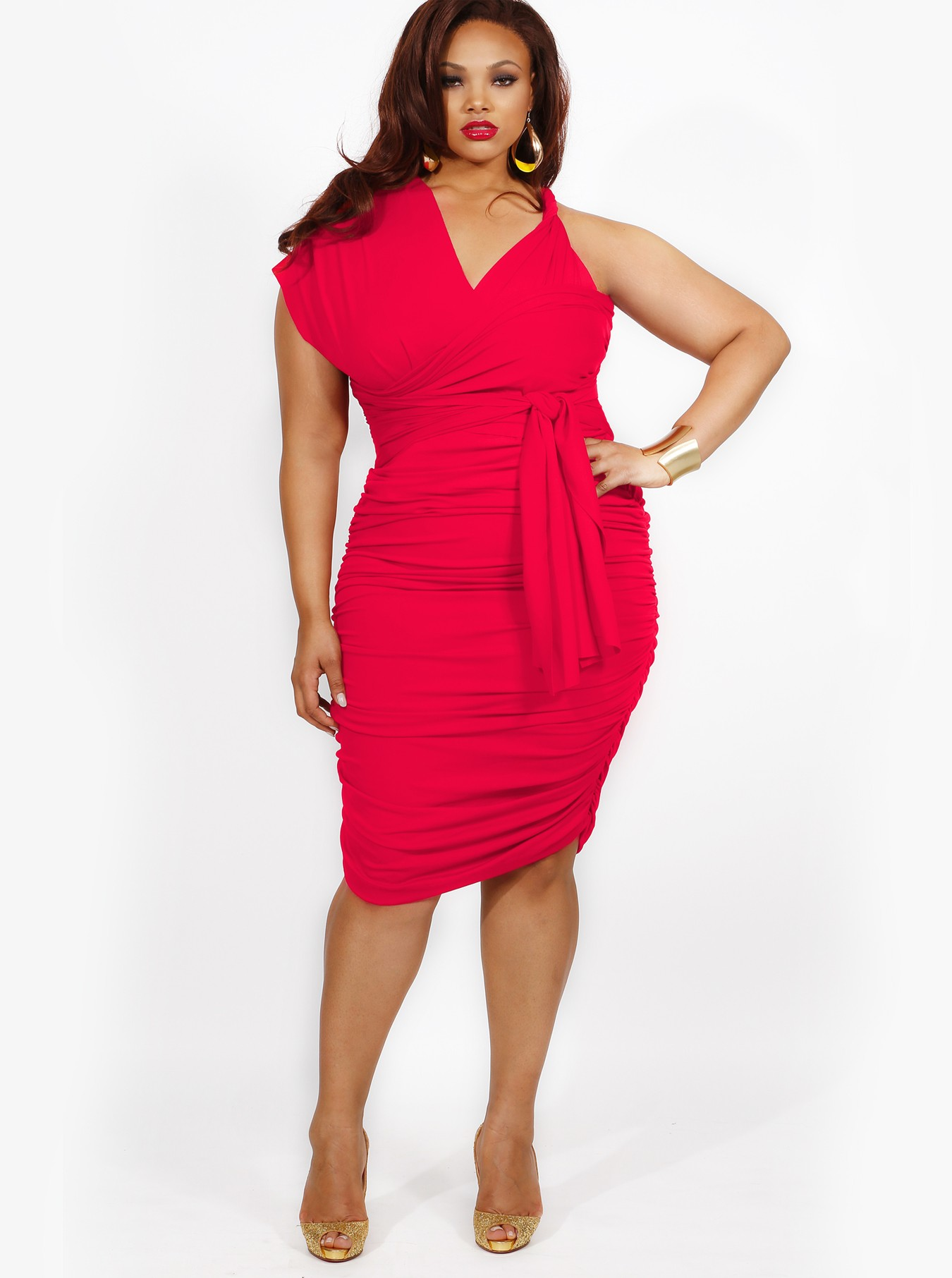 Coral colored plus size cocktail dresses