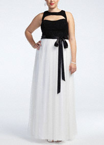 plus size prom gown