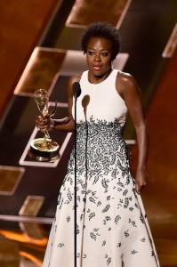 Viola Davis accepts her Emmy award